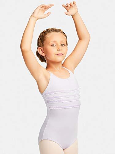 Mädchen Camisole Leotard (Capezio Layer Cake Camisole Leotard | Child Dance Wear (11142C) -PINK -Child Large)