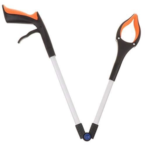 Faltbares Greifer Werkzeug Handgreifer Grabber Pickup-Werkzeug, aus Aluminium zum Erreichen für Müll/Abfall, Garten Greifer, Drehbarer Greifer -