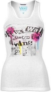Vans T-Shirt Femme Punker Jaune XS Bianco brillante