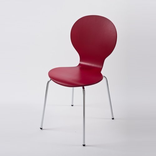 Produktabbildung von lounge-zone Design Klassiker Stuhl STOCKHOLM, stapelbar, rot, Holz 3643