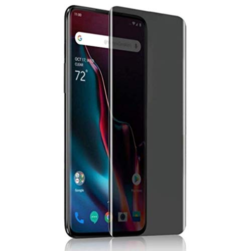Displayschutzfolie für OnePlus 7 Pro - gehärtetes Glas, Gebogene Anti-Spionagefunktion, Anti-Peep, 3D Edge [Hülle freundlich] Kompatibel mit OnePlus 7 Pro Screen Protector Anti Glare Lcd