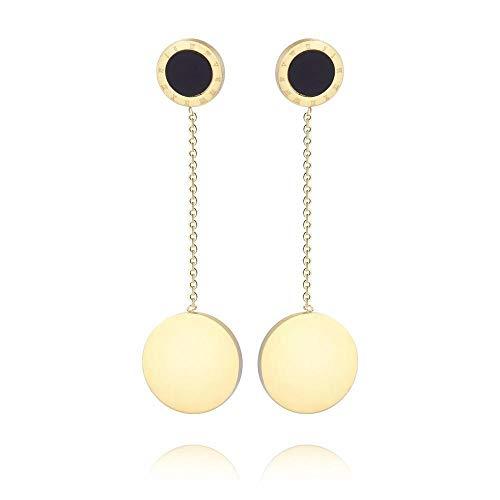 Mayanyan Europäische und Amerikanische Mode Titan Stahl Doppel-Ring Ohrringe