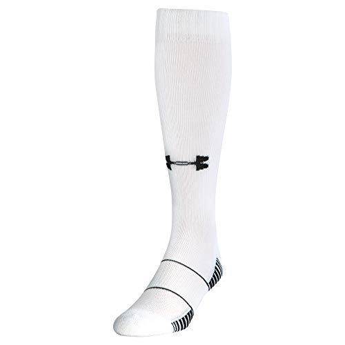 Under Armour Fußball Strümpfe UA Team OTC Socken, White, L - Tom Socken Brady