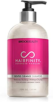 Hairfinity Gentle Cleanse Biotin Shampoo - Silicone & Sulfate Free Growth Formula - Best for Damaged, Dry, Curly or Frizzy H