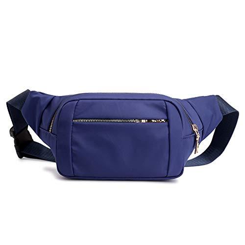 Einfache und praktische Freizeitsport Multifunktions Nylon Oxford Stoff Taschen Damentasche große Kapazität Brusttasche Kasse Leinwand Handytasche blau - Dauerhafte Luggage Bag Tag