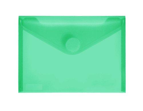 PP-Umschlag A6quer, grün klar, 10 Stück Stück