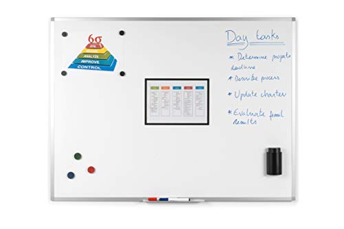 BoardsPlus - Pizarra blanca magnética marco aluminio