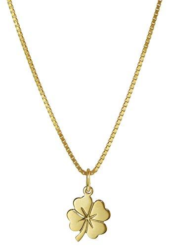 trendor Kleeblatt Anhänger Gold 333 35922