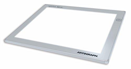 Artograph LightPad Lightbox mit Arbeitsfläche 9 x 12 Inches Silber -