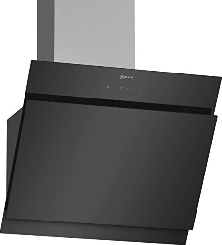 Neff D65IHM1S0 Dunstabzugshaube schräg N50 / 60cm / Abluft oder Umluft / TouchControl / Energieeffizienz B / Klarglas / schwarz