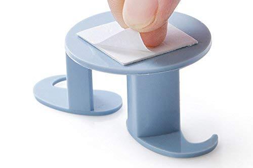 4 Stücke Multifunktions Kreative Schnurrbart Steckerhalter Dekoration Haken Durable 4 Farben Home Plug Key Organizer Werkzeuge (Farbe: Blau)