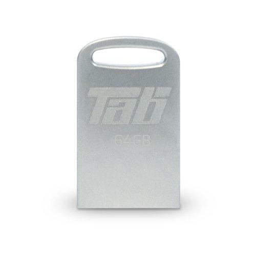 Patriot Tab Serie USB-Stick 3.0in Mikro-Größe, mit bis zu 80MB/Sec & Metall-Gehäuse Silber weiß 64 GB