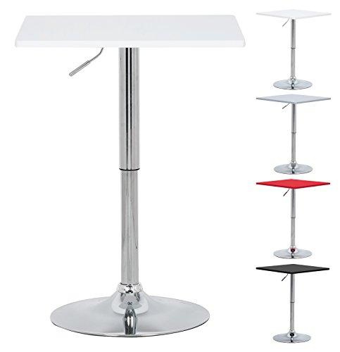 Bartisch Bistrotisch , Partytisch , Design Tisch mit Trompetenfuß , drehbare Tischplatte aus robustem MDF , höhenverstellbar , Dekor ,#416