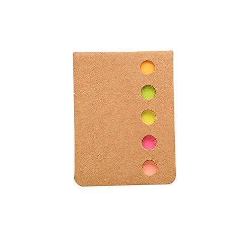 CTGVH Sticky Notes n-Times Memo mit Papier, Neuheit Farbigen Lesezeichen Notizblock Schule Büro liefert Student Preis Geschenk Pack von 5