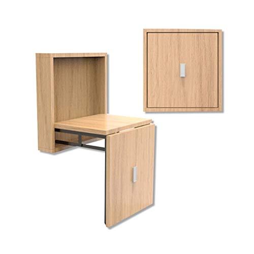 ALUK- small stool Wandmontierte Schuhbank für einfaches Wandfalten, platzsparend, Holzstruktur, Super-tragendes 150kg