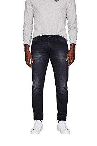 edc by ESPRIT Herren 997CC2B806 Slim Jeans, Schwarz (Black Dark Wash 911), W33/L34