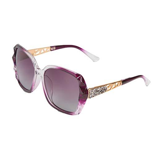 fazry Damen Mode polarisierten UV-Schutz Sonnenbrille Draussen Brille Brillen(Lila)
