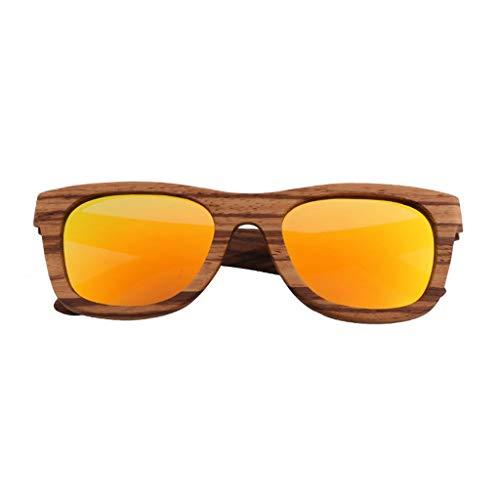 Sonnenbrille Polarisierte Bamboo Outdoor Driving Dekorative Anti-UV Männer Und Frauen Brille (Farbe: Orange Linse)