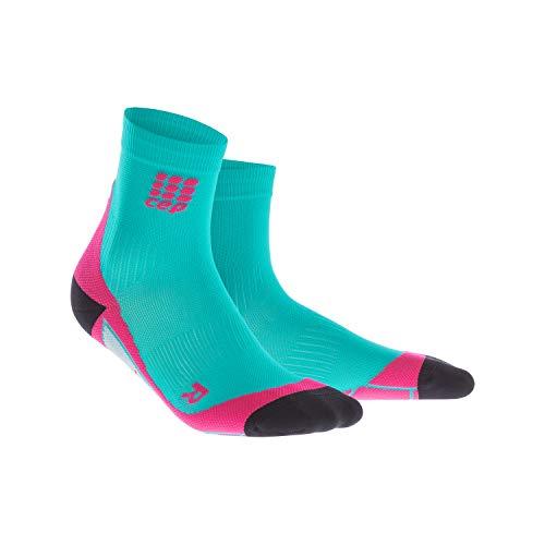 CEP - Short Socks 2.0 für Damen | Kurze Laufsocken mit Kompression in blau/pink | Größe II