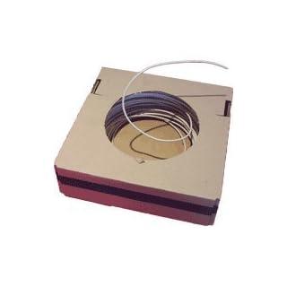 0,19 €/Mtr H5V-U 1 qmm weiß Aderleitung (10 Meter) für Leuchten/EVGs / Fassungen