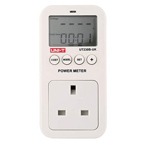 UNI-T UT230B-UK Wattmeter Spannung Strom Kosten Frequenz Leistungsmesser LCD-Leistungsaufnahme Monitor Outlet UK-Stecker JBP-X - 13a-stecker