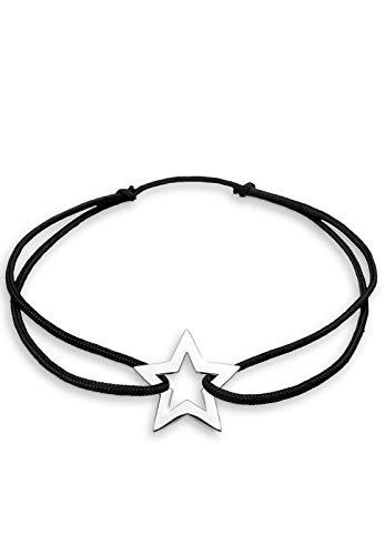 Elli Damen-Armband Schwarz Rock meets Glam Länge 19cm 925 Sterling Silber 02001375_19