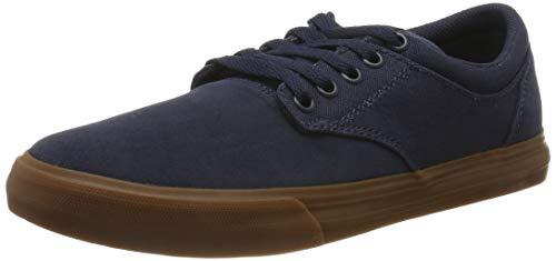 Supra Chino, Zapatillas de Skateboard Unisex Adulto, Azul Navy/Navy-Gum-M 468, 45 EU