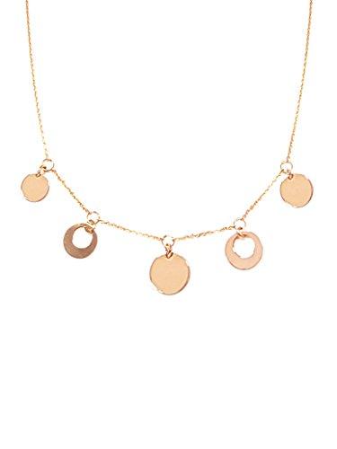 Collana donna in Argento 925 placcato rosa con charm - Linea Italia gioielli Made in Italy