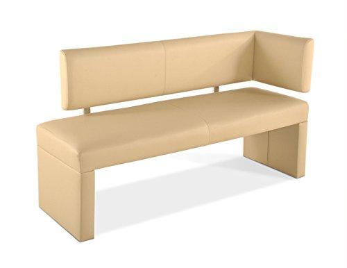 SAM® Esszimmer Ottomane, 130 cm, in creme, Sitzbank mit Rückenlehne aus Samolux®-Bezug, angenehmer Sitzkomfort, frei im Raum aufstellbare Bank [521355]