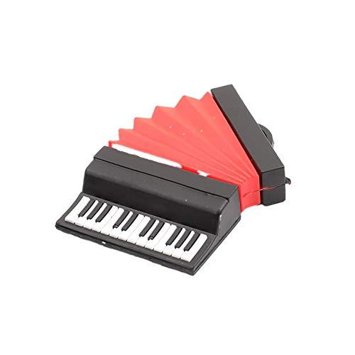 Wisilan Akkordeon USB-Speicherstick (2 USB-Speichermedien, Akkordeon-Form, 8 USB-Speicher) für Computer, Telefon, TV, Auto Player rot Red-8G