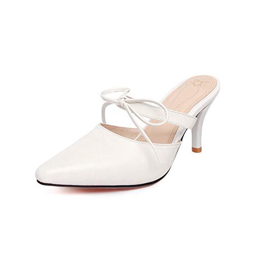 8beade9f Zapatos de Moda de Mujer Zapatillas de tacón Alto de Verano Slip-on Bombas  con