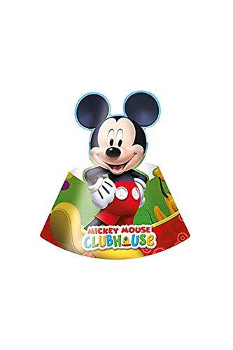 amscan Micky Maus Playful 6 Hüte (Mickey Hut Mouse)