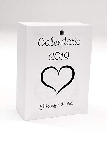 Calendario Per La Vita.Small Calendario 2019 Con Filosofie Di Vita Ricambio Cm
