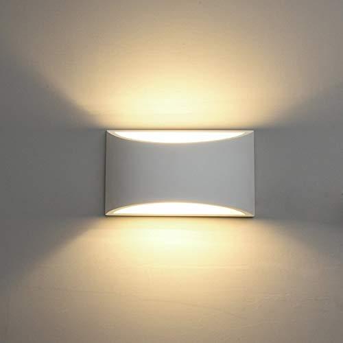 Leuchter Wandleuchte aus Keramik DECKEY, dekorative Pflasterbeleuchtung LED-Wandleuchte nach oben, moderne Innenwandleuchte Lampe Lichteffekt für Schlafzimmer, Wohnzimmerflur und Raum [Energieeffizien -