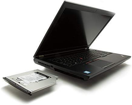 OptiBayHD Notebook Einbaukit für zweite Festplatte oder SSD in IBM / LENOVO Thinkpad Ultrabay R400, R500, T400, T400s, T410, T410s, T420s, T430s, T500, W500, W701 (für Ultrabay mit einer Höhe von 9,5mm) anstelle des SATA optischen CD. -