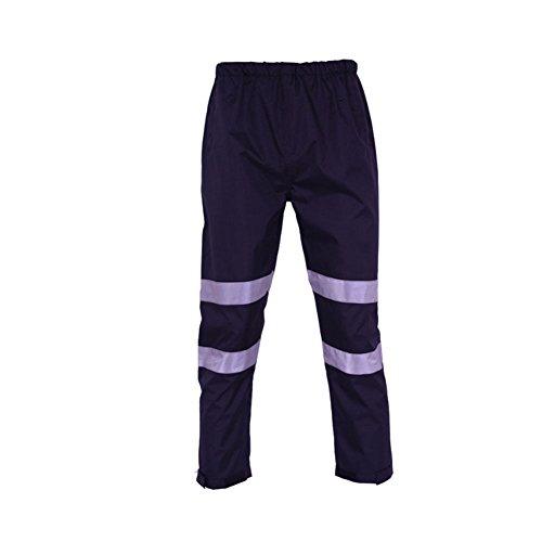 Goyajun Alto visibilità riflessivo Banda Pioggia I Pantaloni Autostrada Impermeabile Sicuro Tuta da Lavoro