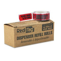 message-arrow-flag-refills-please-sign-return-red-6-rolls-of-120-flags