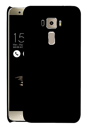 Asus Zenfone 3 Laser 5.5 ZC551KL Back Cover, Johra Rubberised Matte Hard Black Back Cover Case For Zenfone 3 Laser Back Cover