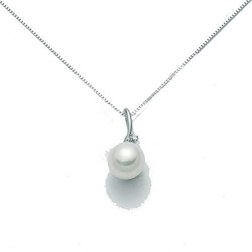 Collana MILUNA oro bianco con perla e diamanti - PCL1875X