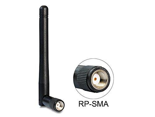 Delock 88395 WLAN 802.11 ac/a/b/g/n Antenne RP-SMA 2 dBi omnidirektional Gelenk