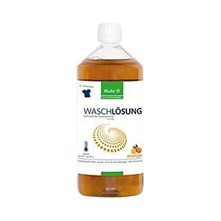 3 x 1L Alvito Bio Waschlösung ORANGE, 3x 1000 ml, für 100 Waschladungen, Inhaltsstoffe perfekt abbaubar, für alle Gewebe, Farben und Temperaturen, mit herrlich, natürlichem Orangenduft