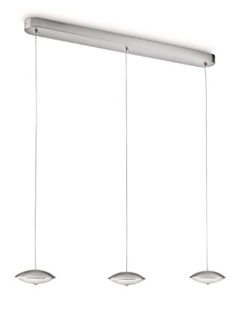 Philips myLiving LED Pendelleuchte Tarn 3-flammig lang, stahl gebürstet