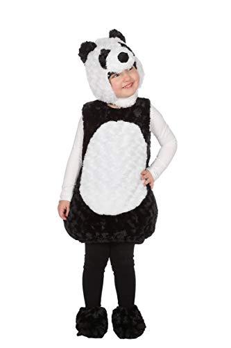 Wilbers Panda Kostüm Bär Pandabär Body Tierkostüm Tier Kinder Karneval Fasching 86-116 Schwarz/Weiß 98 (ca. 3 (Panda Bär Kostüm Kleinkind)