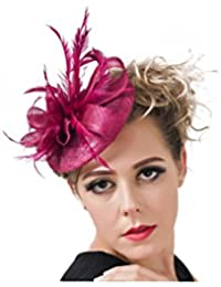 Royal Graceful Women Bride Imitation Feather Flower (6 Colors) Hair Pin Clips Hair Dress Party Wedding Hair Accessory...