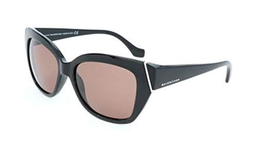 Balenciaga Damen Sunglasses Ba0099 01E-57-17-135 Sonnenbrille, Schwarz, 57