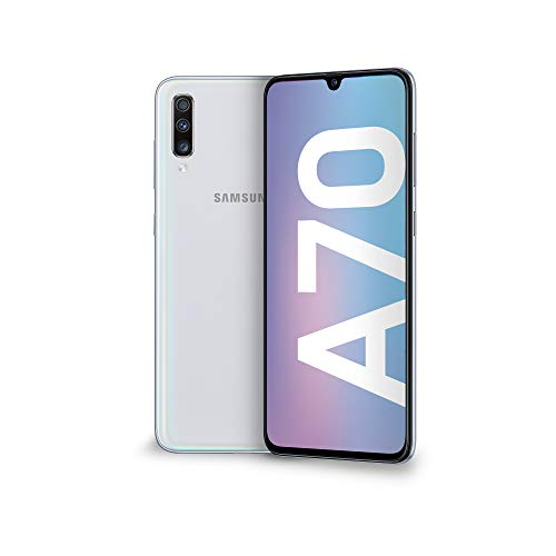"Samsung Galaxy A70 Display 6.7"", 128 GB Espandibili, RAM 6 GB, Batteria 4500 mAh, 4G, Dual SIM Smartphone, Android 9 Pie, (2019) [Versione Italiana], White"