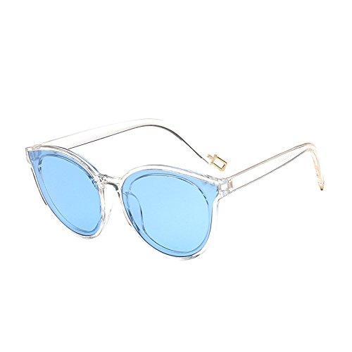 SUNGLASSES Neue Sonnenbrille weibliche koreanische Mode Sonnenbrillen Männer Trend Big Frame Sonnenbrillen (Farbe : Blau)