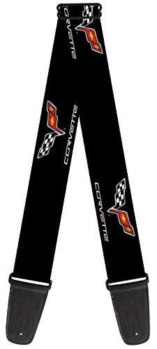 chevrolet-automobile-company-corvette-flags-guitar-strap