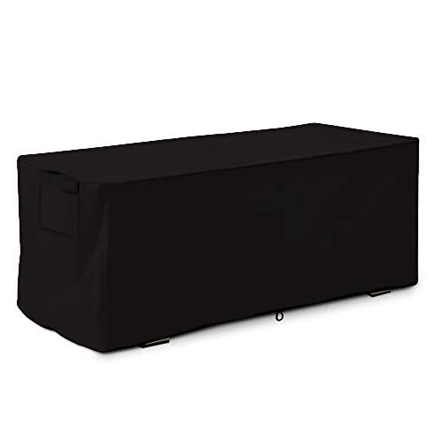 Linkool Housse de terrasse de qualité supérieure pour Coffre de Rangement extérieur Noir Small:123 x62 X55 cm