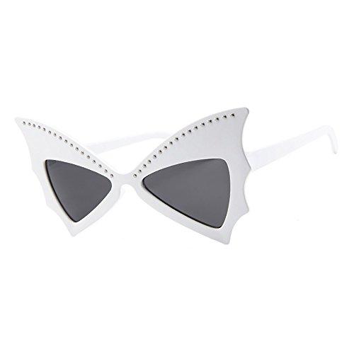 Honestyi Frauen Männer Vintage Retro Bat Form Rivet Brille Unisex Sonnenbrillen Eyewear 5057 Sunglasses